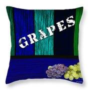 Grape Farm Throw Pillow