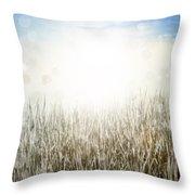 Grass And Sky  Throw Pillow