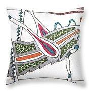 Grasshopper II Throw Pillow