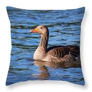 Graylag Goose Throw Pillow