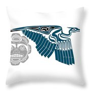 Great Blue Heron With Moon Throw Pillow