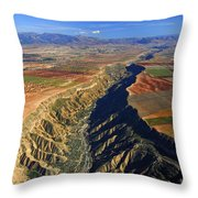 Great Canyon River Gor In Spain Throw Pillow