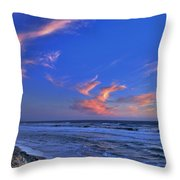 Great Highway Sunset Throw Pillow