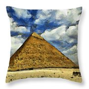 Great Pyramid Of Egypt Throw Pillow