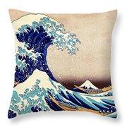 Great Wave Off Kanagawa Throw Pillow
