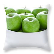 Green Granny Smith Apples Throw Pillow
