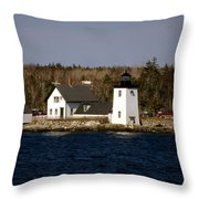 Grindel Point Lighthouse Throw Pillow