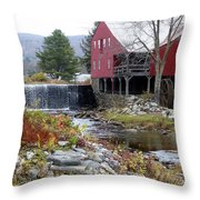 Gristmill Weston Vermont Throw Pillow
