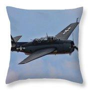 Grumman Tbm-3e Avenger Throw Pillow