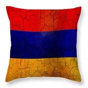 Grunge Armenia Flag  Throw Pillow