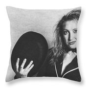 Grunge Photo Of Female Cabaret Performer Throw Pillow