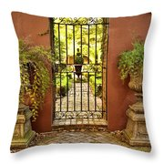 Guardians Of The Garden Throw Pillow