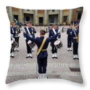 Guards Changing Shifts. Kungliga Slottet.gamla Stan. Stockholm 2 Throw Pillow