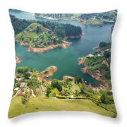 Guatape Lake Throw Pillow