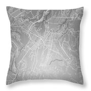 Guatemala Street Map - Guatemala City Guatemala Road Map Art On  Throw Pillow