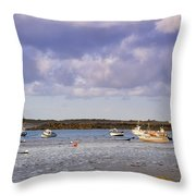 Guernsey Coastline Throw Pillow