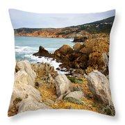 Guincho Cliffs Throw Pillow