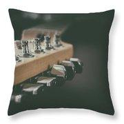 Guitar Head At A Glance Throw Pillow