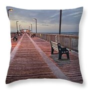 Gulf State Pier Throw Pillow by Michael Thomas