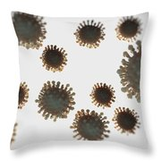 H1n1 Virus Particles Throw Pillow