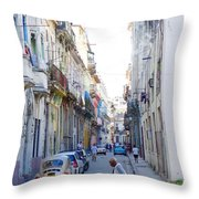 Habana Street Throw Pillow