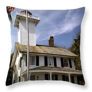 Haig Point Lighthouse Throw Pillow