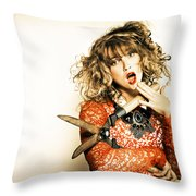 Hair Cut With Style Throw Pillow