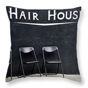 Hair House Throw Pillow