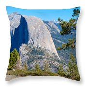 Half Dome From Sentinel Dome Trail In Yosemite Np-ca Throw Pillow