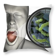 Halitosis Throw Pillow