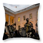 Halloween At The White House Throw Pillow