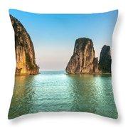 Halong Bay -vietnam Throw Pillow