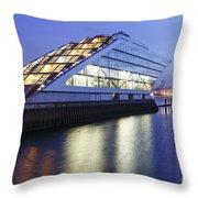 Hamburg Dockland At Night Throw Pillow