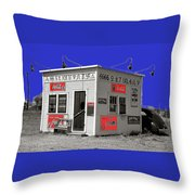 Hamburger Stand Coca-cola Signs Russell Lee Photo Farm Security Administration Dumas Texas 1939-2014 Throw Pillow