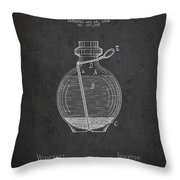 Hand Grenade Patent Drawing From 1884 Throw Pillow by Aged Pixel