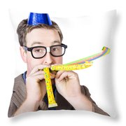Handsome Business Man. Party For Many Year Service Throw Pillow