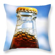 Happy New Beer Throw Pillow