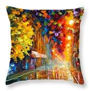 Happy Street Throw Pillow