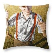 Happy The Golf Man Throw Pillow