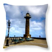 Harbour Light Whitby Throw Pillow