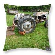 Hard Days Work Farm Tractor Throw Pillow