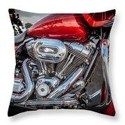 Harley Davidson Motorcycle Harley Bike Bw  Throw Pillow