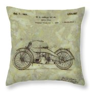 Harley Davidson Patent Throw Pillow