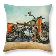 Harley Davidson Wla 1942 Throw Pillow