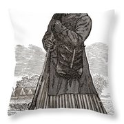 Harriet Tubman, American Abolitionist Throw Pillow