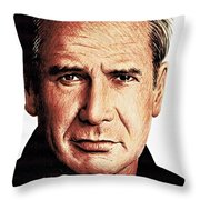 Harrison Ford Throw Pillow by Andrew Read