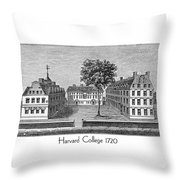 Harvard College - 1720 Throw Pillow