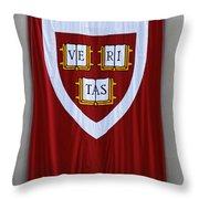 Harvard Veritas Banner Throw Pillow