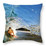 Makena Boogie Boarder Throw Pillow