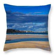 Hayle Estuary Cornwall Throw Pillow